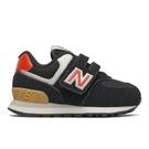 New Balance 574 W 童鞋 小童 慢跑 復古 麂皮 穩定 黑 紅【運動世界】IV574ML2