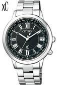 CITIZEN 星辰 xC 限量 電波五局鈦金屬萬年曆女錶 CB1100-57A白36mm限量商品