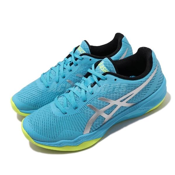 【六折特賣】Asics 排球鞋 Volley Elite FF 藍 銀 女鞋 運動鞋 【ACS】 B751N400