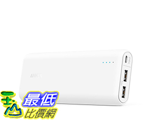 [106美國直購] Anker PowerCore 20100 mAh Portable Charger with 4.8A Output and PowerIQ - White