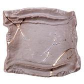 日本 金釉格子6吋角盤 18cm