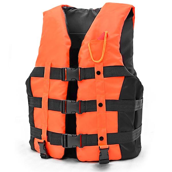 雙跨帶螢光浮力衣XL(附口哨子)加厚成人浮潛衣.專業浮力背心.救生衣游泳衣漂流衣泳裝浮板推薦