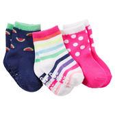 Carter's平行輸入童裝 女寶寶 嬰兒襪子 套裝三件組 多色【CA60265】