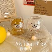 貓爪杯chubby baby*日單 比貓爪杯更好看 雙層柴犬小狗耐熱玻璃杯  夢藝家