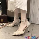 高跟鞋 涼鞋女2021年新款女夏季一字扣小清新高跟鞋百搭女鞋子尖頭貓跟鞋寶貝計畫 上新