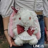 兔包可愛兔兔玩偶包雙肩包洋斜背包/側背包lo娘洛麗塔包蘿莉兔熊包萌