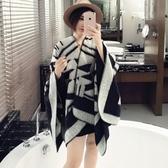 羊毛絨長披肩-經典柔軟斗篷造型女圍巾73hy50【時尚巴黎】