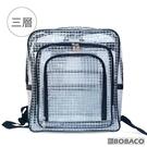 【南紡購物中心】【三層透明網格後背包】無塵室 透明背包 後背包 工具 高科技產業