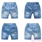 寶寶牛仔短褲2020夏裝新款男童童裝兒童鬆緊腰潮中褲子薄款五分褲