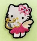【震撼精品百貨】Hello Kitty 凱蒂貓~日本SANRIO三麗鷗KITTY立體貼布-豎琴*14010
