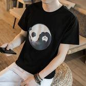 夏季寬鬆亞麻短袖T恤男新款休閒亞麻半袖體恤學生潮流薄款上衣服