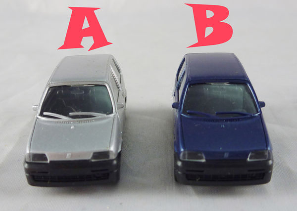 【震撼精品百貨】西德Herpa1/87模型車~Fiat Cinquecento灰/深藍【共2款】