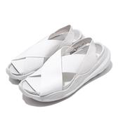 Nike 涼拖鞋 Wmns Praktisk 白 灰 女鞋 繃帶 涼鞋 夏日穿搭 【ACS】 AO2722-100