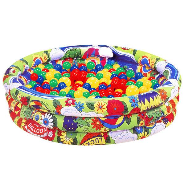 【奇買親子購物網】夏威夷充氣兩用游泳池/遊戲池