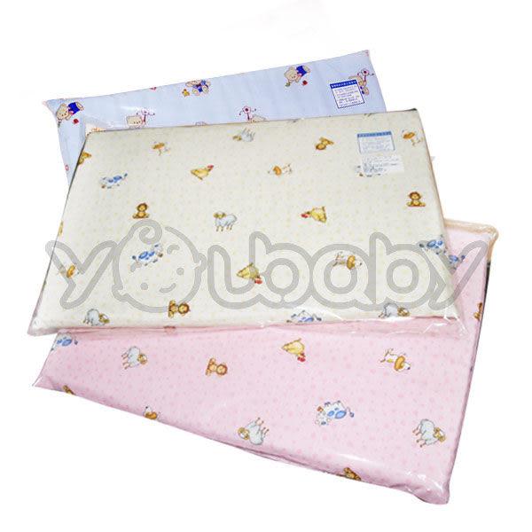 嬰兒舒眠乳膠枕 平枕 趴睡枕 (布套圖案隨機出貨)