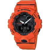 【台南 時代鐘錶 CASIO】卡西歐 G-SHOCK 台灣公司貨 GBA-800-4A 藍牙連動智慧型健康管理運動錶