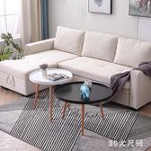 北歐ins小茶幾簡約小戶型陽臺沙發圓形桌子休閒角幾簡易邊幾 qf25190【MG大尺碼】