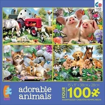 【KANGA GAMES】拼圖 可愛動物 Adorable Animals 4款各24片