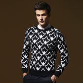 長袖針織衫-英倫風幾何造型男針織毛衣73ik49[時尚巴黎]