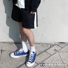 反光短褲【OBIYUAN】 韓國製 彈力 運動褲 休閒褲 棉褲 【P1160】