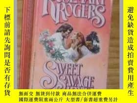 二手書博民逛書店英文原版罕見Sweet Savage Love by Rosem