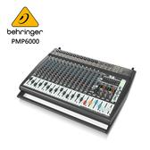 BEHRINGER PMP6000專業20通道平台功率混音器(具有雙Multi-FX處理器和FBQ反饋檢測系統)