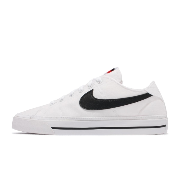 Nike 休閒鞋 Court Legacy Canvas 白 黑 帆布鞋 男鞋 女鞋 運動鞋 【ACS】 CW6539-101