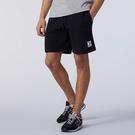 New Balance Essentials 男裝 短褲 休閒 棉質 抽繩 標籤 黑【運動世界】AMS11502BK
