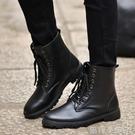 馬丁靴冬季男士韓版潮流軍靴沙漠靴短靴高筒皮靴中筒工裝靴男靴子 蘿莉小腳ㄚ