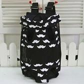 寵物包-可攜式貓狗雙肩黑色女後背包69b42[時尚巴黎]