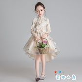 兒童禮服女公主裙蓬蓬紗洋氣花童鋼琴表演禮服演出服【奇趣小屋】