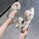 厚底涼鞋 涼鞋女2021年新款韓版鬆糕厚底運動涼鞋女時尚露趾舒適沙灘涼鞋女 薇薇