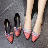 豆豆鞋女夏季尖頭單鞋百搭鞋平跟平底淺口舒適休閒鞋 愛麗絲精品