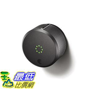 [107美國直購] August Smart Lock 2nd Generation - Dark Gray, Works with Alexa