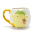 【震撼精品百貨】Pom Pom Purin 布丁狗~三麗鷗~造型浮雕馬克杯-黃*07982