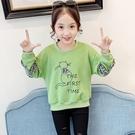 女童長袖T恤純棉中大童韓版女孩裝上衣洋氣兒童打底衫