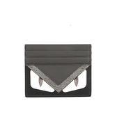【FENDI】bag bugs黑灰色信用卡/名片夾 (黑/灰/白) 7M01648FJ F06HP