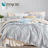 ✰吸濕排汗法式柔滑天絲✰ 雙人 薄床包兩用被(加高35CM)《朵蜜》