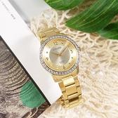 CITIZEN 星辰表 / EL3092-86P / 耀眼晶鑽 礦石強化玻璃 日本機芯 不鏽鋼手錶 鍍金 35mm