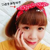 凱蒂貓HELLO KITTY KT 蝴蝶結髮帶髮圈髮飾紅點點款COCOS VD062