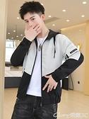 夾克外套 男士外套春秋季2021新款韓版潮流上衣服工裝機能男裝休閒夾克衫牌 榮耀