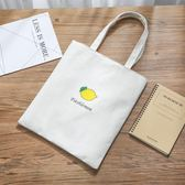 帆布包女單肩韓版文藝小清新學生手提拎書袋折疊便攜環保購物布袋