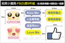幸福朵朵*【活動拍照小道具-FB(D)款9件組】互動更有趣!婚禮畢業尾牙打卡按讚必備!