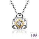 ides愛蒂思 設計款12分E/VVS1八心八箭頂級3EX車工鑽石項鍊/巴黎小香風