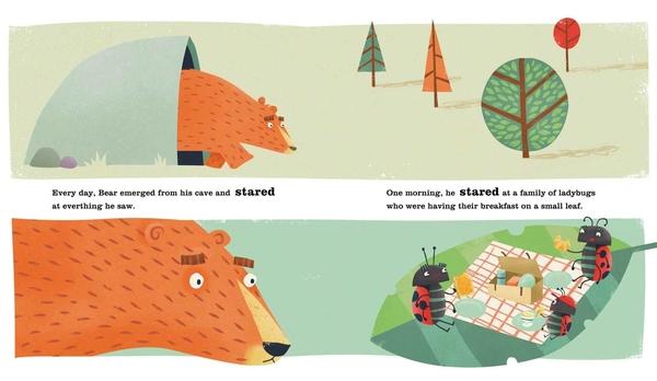 THE BEAR WHO STARED /英文繪本《主題: 自我認同.情緒管理》