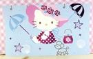 【震撼精品百貨】Hello Kitty 凱蒂貓~kitty大卡片~藍帽子坐
