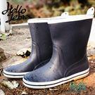 雨鞋男水鞋學生雨靴輕便膠鞋中筒防水鞋戶外套鞋防滑釣魚登山【一條街】