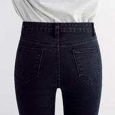 現貨牛仔褲 2020春秋新款彈力高腰牛仔褲女黑色大碼顯瘦修身小腳鉛筆長褲子潮 小宅女9-19