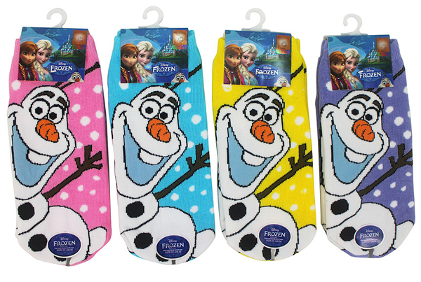 【卡漫城】 冰雪奇緣 襪子 22-24cm 三雙組 (不挑顏色) ㊣版 短襪 Frozen 雪寶 Olaf 雪人 台灣製