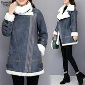 短款棉服新款韓版機車鹿皮絨羊羔毛外套女冬加厚小棉襖